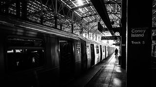 Coney Island Track 5 - New York - Black and white street photography