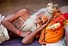 Sleeping Sadhu (Dick Verton ( more than 12.000.000 visitors )) Tags: asia india man saddhu sleep streetlife travel varanasi
