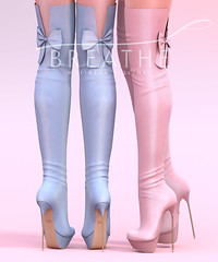 [BREATHE]-Masumi Heels ([Breathe]) Tags: boots secondlife mesh heels shoes thechapterfour over knee bow
