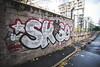 Skizo (lanciendugaz) Tags: graffiti graffitis graff tag tags spray spraycan chrome wall block lettrage couleur black banlieue parisienne perso street dalvan vandal vndlsm skizo skyzo scoubidou