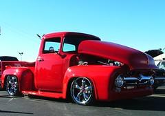 56 Ford Pickup (custom) (jHc__johart) Tags: ford truck pickup red vehicle custom 1956fordcustompickup