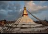 The Great Stupa of Boudhanath, Kathmandu, Nepal (jitenshaman) Tags: travel destinations worldlocations asia asian nepal nepali kathmandu bhoudinath stupa bhouda monastery temple buddhist buddhism religious religion tibetan tibetanbuddhism tibetanbuddhist boudhanath thegreatstupaofboudhanath jarungkhashor kasor stupas shrine holy sacred wideangle sunset prayerflag prayerflags bauddhanāth