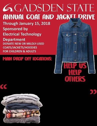 Gadsden State Coat Drive Flyer