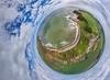 Auchmithie Little Planet (G Davidson) Tags: auchmithie angus scotland aerial 360 2016 coast sea panorama photosphere harbour littleplanet