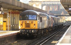 56301 and 37608 Bromley South (localet63) Tags: class56 56301 class37 37608 andromeda bromleysouth 5q58 unitdrag class375 railoperationsgroup emptystockmovement