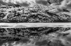 Nyheim, Nordland (Paulo Calafate) Tags: canon5dmarkiv canonef2470mmf28liiusm norge noruega norway norveige nordland lofoten snow montain reflection clouds bw landscape