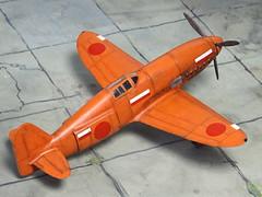 1:72 Kawasaki KEN III/Ki-78 prototype during final testing stages at Gifu Hikōjō (Japan), early 1944 (AZ Model kit) (dizzyfugu) Tags: 172 az model ken iii ki78 kitai ija japanese imperial air force experimental speed record orange 1944 prototype db 601 modellbau dizzyfugu