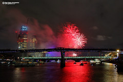 Lord Mayor's Show Fireworks 2017 London (Nigel Blake, 16 MILLION views! Many thanks!) Tags: the lord mayors fireworks thames 11 november 2017 lordmayorsshow london night pyrotechnics millennium bridge nigelblakephotography nigelblake