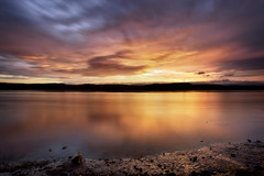 Solstice d'été (gaudreaultnormand) Tags: leverdesoleil longexposure longueexposition sunrise ciel paysage eau saguenay quebec canada