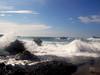 En el Refugio de Vida Silvestre Punta Río Claro/ At the Punta Río Claro Wildlife Refuge (vantcj1) Tags: naturaleza nubes rompiente arrecife espuma playa paisaje
