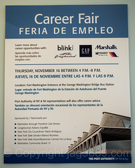 Career Fair Poster, George Washington Bridge Bus Station, Washington Heights, New York City (jag9889) Tags: jag9889 usa manhattan newyork outdoor uppermanhattan georgewashingtonbridgebusstation 20171115 marshalls 2017 text washingtonheights job newyorkcity poster gap career sign fair panynj indoor 1963 bus busterminal departmentstore gwbbusstation gwbmarket gwbbs ny nyc pierluiginervi plakat portauthority portauthorityofnewyorkandnewjersey terminal unitedstates unitedstatesofamerica wahi us