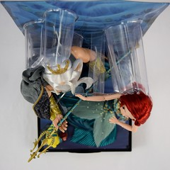 2017 Disney Designer Ariel and King Triton Doll Set - Covers Off - Full Top View (drj1828) Tags: 2017 disney disneydesignercollection kingtriton ariel boxed thelittlemermaid uncovered purchase limitededition le6000 12inch