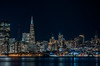pier 7 to 23 (pbo31) Tags: bayarea california night black dark november 2017 fall boury pbo31 city urban skyline treasureisland sanfrancisco bay reflection color embarcadero transamerica building nikon d810