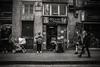 Downtown..... (Dafydd Penguin) Tags: downtown street candid raw shots city urban life people shops barcelona catalunya catalonia spain black white blackandwhite blackwhite monochrome noir bw shopping nikon df nikkor 20mm af f28
