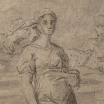 POUSSIN Nicolas (Attribué) - Eliezer et Rebecca (drawing, dessin, disegno-Pontoise) - Detail 07 thumbnail
