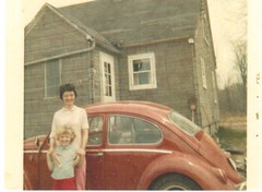 Postcrossing US-5018468 (booboo_babies) Tags: postcard zazzle motheranddaughter volkswagen gilman wisconsin 1960s retro oldfashioned postcrossing 1965