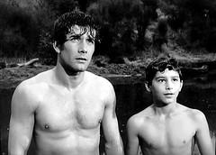 """Robert Fuller and Robert Crawford Jr. in  """"Laramie."""" (stalnakerjack) Tags: actors tv hollywood westerns robertcrawfordjr robertfuller laramie"""