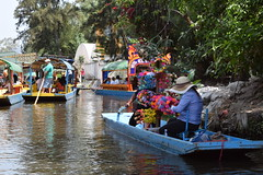 Mobile flower sellers in Xochimilco (nickdippie) Tags: mexico xochimilco ciudaddemexico canal boat canalboat gondolier colourful