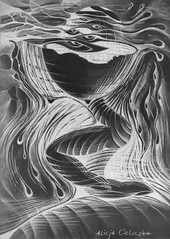 """reverse pain"" (alice 240) Tags: arttate reversepain drawing mixedmedia modernart fineart contemporaryart dream poetry visualpoetry alice240 atelier240art art alicealicjacieliczka museum gallery magic artist expression surreal surrealism expresionism dark illustration light flickr traditionalart artistic creative artgalleryandmuseums"