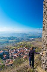 Castle to Sancy (TotoFABRE) Tags: sancy puydesancy puydedome castle buron chateau auvergne france xm1 fujifilm fuji sky autumn automne