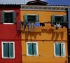 Burano : le linge qui sèche aux fenêtres  en Italie (buch.daniele) Tags: burano danielebuch