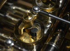 Y10 (glyn_nelson) Tags: frenchhorn brass macro macromondays memberschoicemusicalinstruments valve lever steampunk