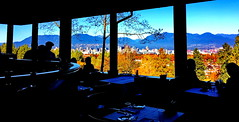 Seasons in the Park: What a dining view! (+7) (peggyhr) Tags: peggyhr series autumn restaurant seasonsinthepark peak queenelizabethpark img3233axy vancouver bc canada backlit silhouettes groupecharliel1 infinitexposurel1 thegalaxy groupecharliel2addphotos niceasitgets~level1 thelooklevel1red groupecharliel3 thelooklevel2yellow thegalaxyhalloffame thegalaxystars super~sixbronze☆stage1☆