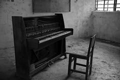 Abandoned Piano (superzookeeper) Tags: canoneos5dmarkiv ef2470mmf28liiusm 5dmk4 5dmkiv hk hongkong yuenlong eos digital street abandoned ruins abandonedpiano piano abandonedschool school brokenpiano monochrome bnw blackandwhite creepy over1000views