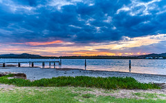 Overcast Dawn Waterscape (Merrillie) Tags: daybreak woywoy color overcasst cloudy water coast dawn beauty landscape weather newsouthwales clouds bay nsw brisbanewater light scenery beautiful scene nature scenic coastal sky waterscape view centralcoast sunrise australia