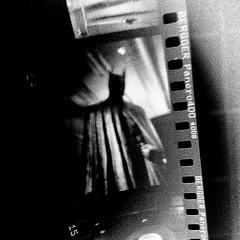 Batman is in my darkroom (Cathy Lehnebach) Tags: bergger pancro400 rodinal bathroom batman dccomics superlegend superstar superpower iconic