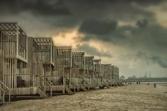 Beach Houses (Pieter Musterd) Tags: hoekvanholland nieuwewaterweg strandhuisjes schemering industry vakantiepark pietermusterd musterd canon pmusterdziggonl nederland holland nl canon5dmarkii canon5d