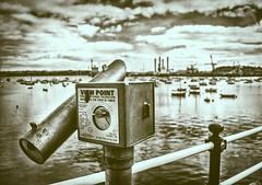 Week 11/52 - Split Tone. (Mark Curnow Photography) Tags: falmouth pier princeofwalespier cornwall cornishcoast coast water telescope sea estuary outdoorphotography outdoors outside canon canoneos canonphotography 52weekphotoproject 52weekproject splittone