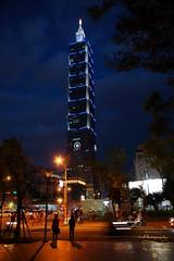Taipei 101 (Jurek.P) Tags: taipei taiwan taipei101 wieżowiec skyscrapers night nightcity nightshot city cityscape capitalcity noc lights jurekp sonya77