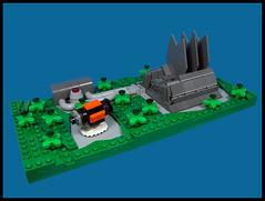 The Annual Maintenance Shuttle Arrives (Karf Oohlu) Tags: lego moc microscale vignette scifi factory
