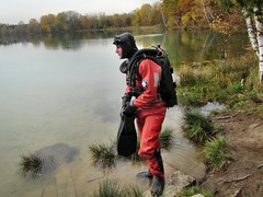 Observing the waters (CZDiver) Tags: scubagear scubadiving scubadiver divinggear doublehosescubaregulator drysuitdiving scuba scubatank northerndiverdrysuit rubberdrysuit drysuit thordrysuit aqualungmistral