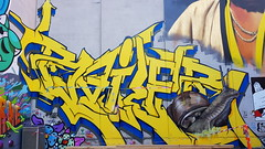 Bailer & Mupz... (colourourcity) Tags: streetart streetartnow streetartaustralia graffiti melbourne burncity awesome colourourcity nofilters art original bailer bale bails id acm burner yellow snail mupz kelr bb