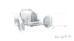 Bugatti T51 s (Stefan Marjoram) Tags: sketch drawing ipad pro procreate apple pencil car vintage racing plein air