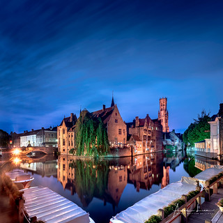 Blue Hour In Bruges