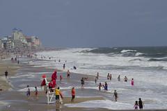 A Day of Big Waves (For The East Coast) (Rich Renomeron) Tags: olympusmzuiko40150mmf456r olympusomdem10 beach ocean oceancity surf waves