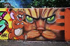 Jerry (HBA_JIJO) Tags: streetart urban graffiti animal art france hbajijo wall mur painting chat aerosol peinture cat graff murale spray souris gatto bombing urbain charactere paris91 cartoon tom jerry