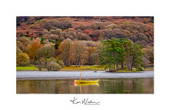 All Tied Up (Ken Walker Photography) Tags: autumn colours dingy conistonwater water lakedistrict lake yellow nature trees