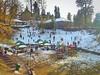 First Snow of the Season. (Abdul-Rehman Siddiqi) Tags: lenovok5plus mobilephotography snow playground picnicpoint nathiagali