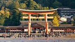 Shrine (Front View) (somazeon) Tags: itsukushima shrine miyajima hiroshima 宮島 広島 厳島神社 panasonic lumix torii japan