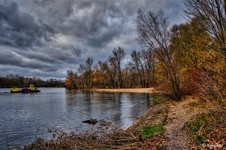 River Beach In Autumn