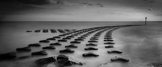 Sea defence black & white