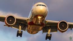 Air India B777 (Green 14 Pictures) Tags: aviation avporn airport avgeek airplane aircraft air airlines airline airfield boeing uk greatbritain unitedkingdom gb london londonheathrow heathrow heathrowairport lhr egll airindia ai aic boeing777 777 77l 777200lr