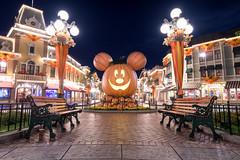 Happy Thanksgiving from Disneyland (orlandobrothas) Tags: disneyland hdr anaheim california mickeymouse pumpkin mainstreetusa night nikond500 tamron longexposure