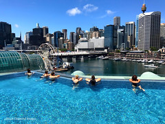 Infinity Pool, Sofitel Hotel, Darling Harbour, Sydney, NSW (Black Diamond Images) Tags: bridge sofitelhotel darlingharbour sofiteldarlingharbour sofitelsydneydarlingharbour sydney nsw australia pool swimmingpool infinitypool harboursidemall ferriswheel citylandscapes pyrmontbridge iphone appleiphone7plus iphone7plus water city building