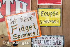 Signage for Fidget Spinners and eclipse novelty items, Grand Tetons National Park, Teton County, Wyoming (Remsberg Photos) Tags: grandteton jackson landscape mountains nationalpark tetons west wyoming colorimage westernusa fidgetspinners popular novelty signage trend horizontal outdoors traveldesintations tourism usa
