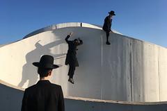 The White City - Tel Aviv (Efrat Sela) Tags: white city urban orthodox blackandwhite black outdoor park jump streetphotography documentary telaviv art decisive momentdecisive moment sky people